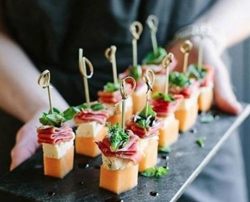 plate of canapes