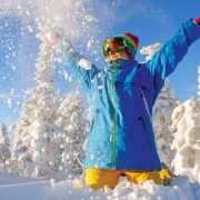 throwing snow in air