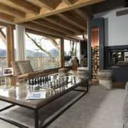 living room in luxury chalet