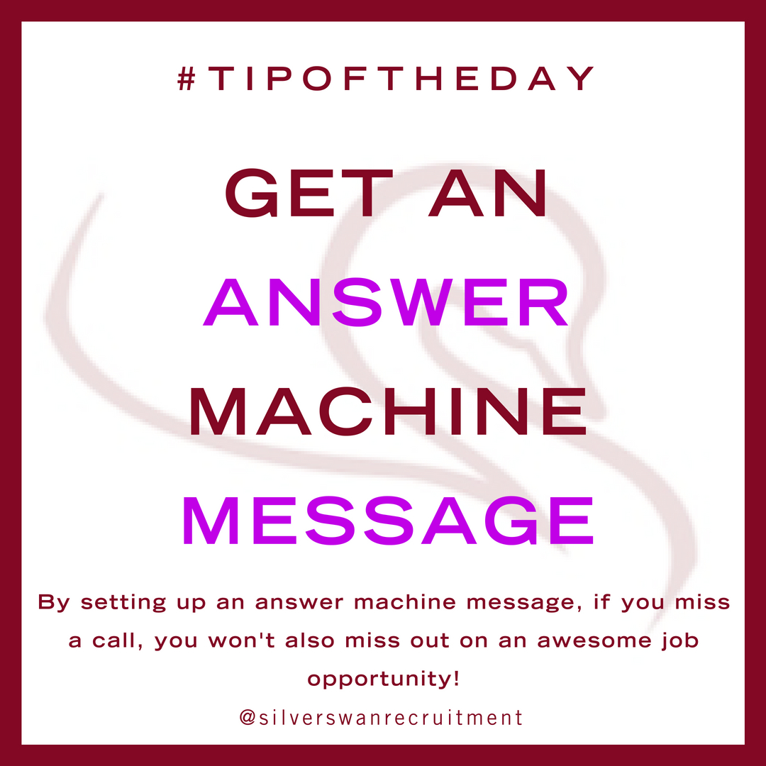 get an answer machine message