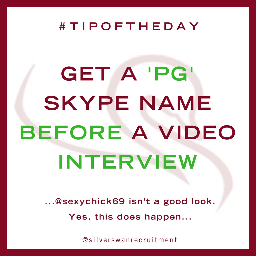 get a pg skype name before a video interview