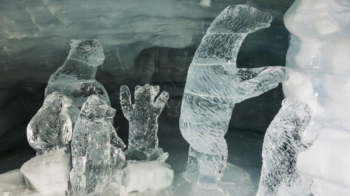ice grotto la plagne