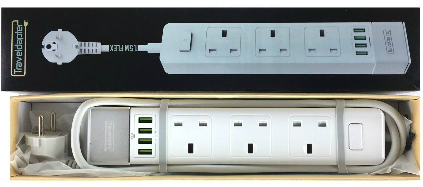 french multi plug travel adapter