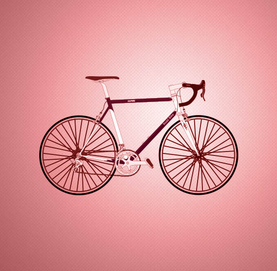 bicycle with pink background