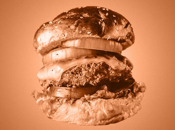 huge burger with bronze filter