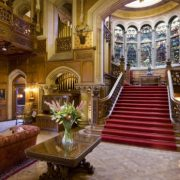 grand stair case and house