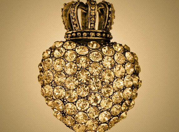 diamond encrusted perfume bottle