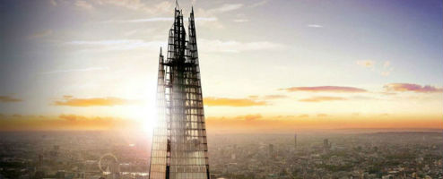 the shard london sunset