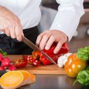 chef cutting veggies