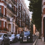 black cab in London street
