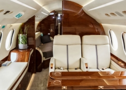 Interior of jet