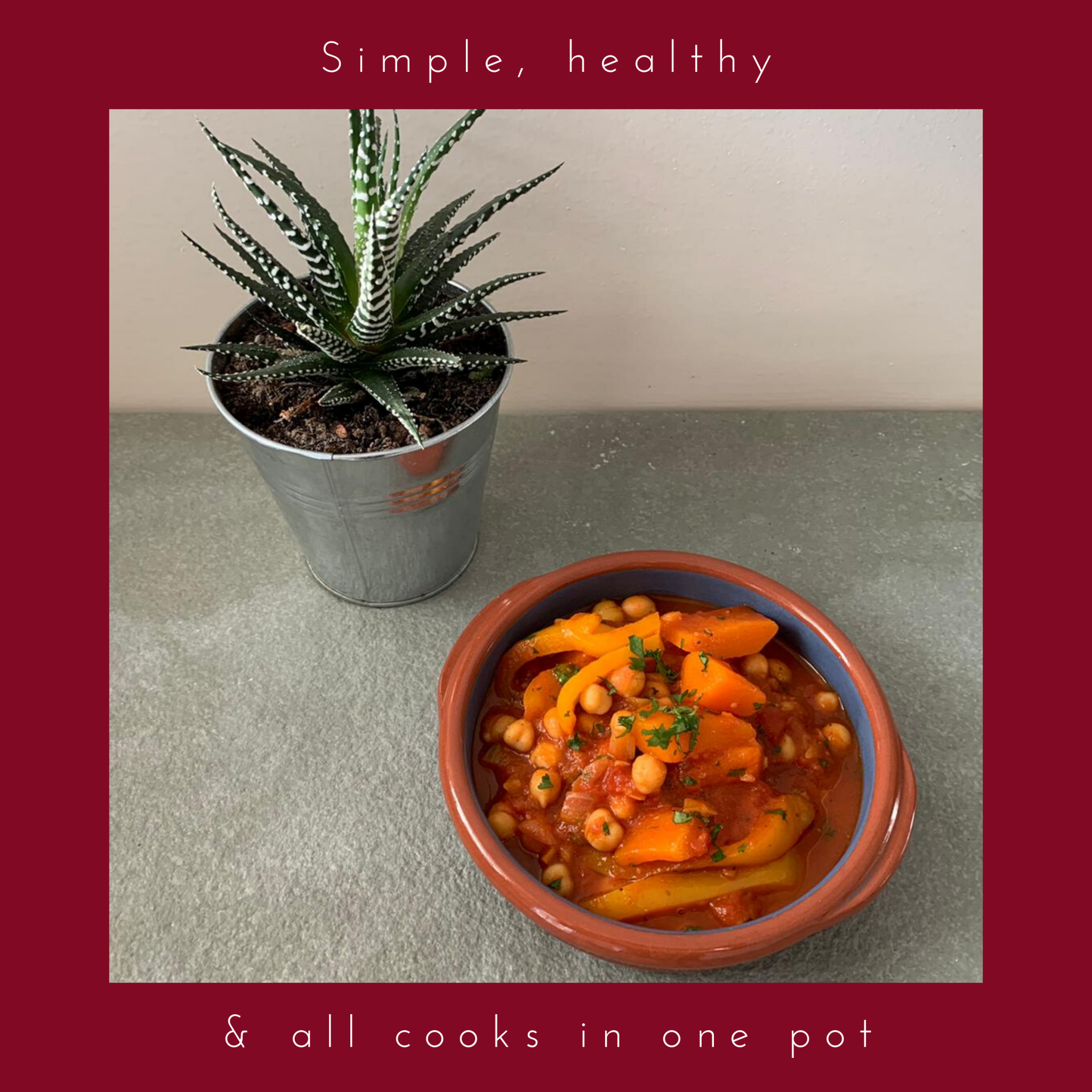 Bowl of tagine and aloe plant