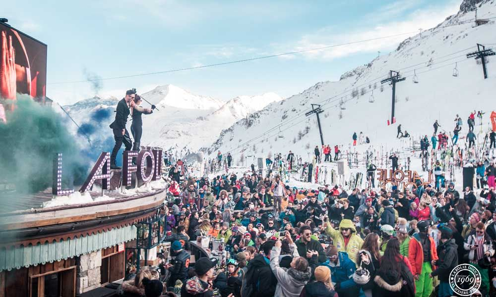 La Folie Douce - apres ski bar in the French Alps
