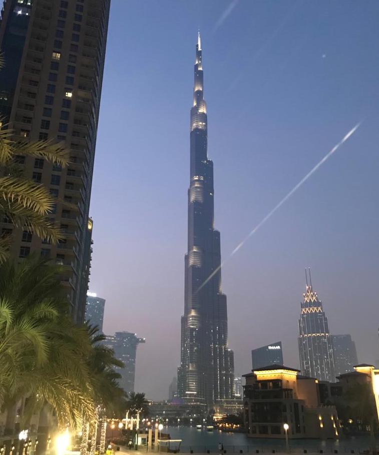 Burj Khalifa, Dubai at dusk