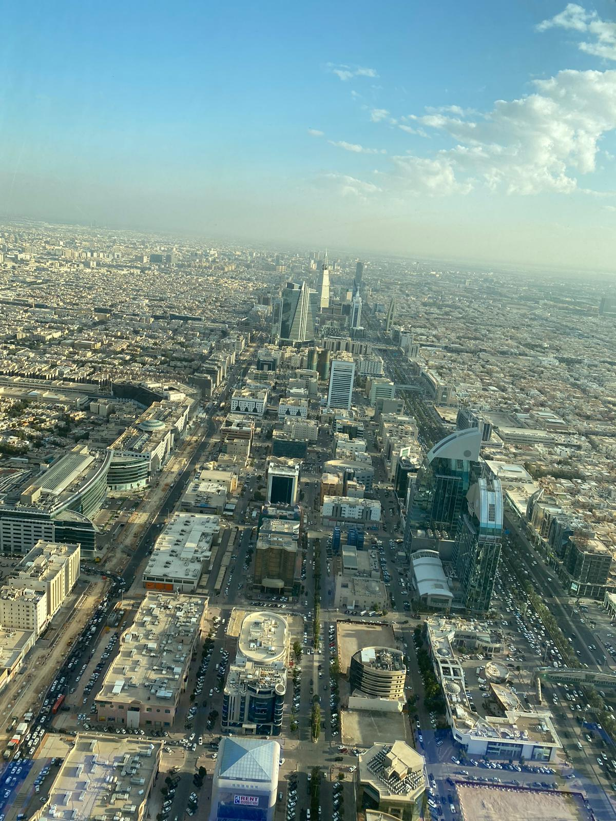 View across Riyadh from the top of a skyscrapper
